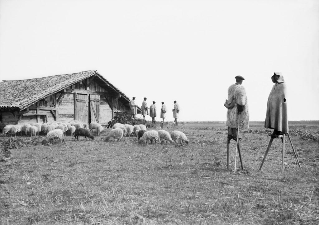 Bergers à Giscos. Photo par Félix Arnaudin, 1898