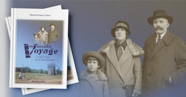 Couverture du roman Un possible voyage de Marie-France-Clerc